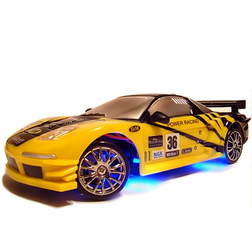 Желтая Радиоуправляемая машинка для дрифта Honda NSX (1:24, 18 см)