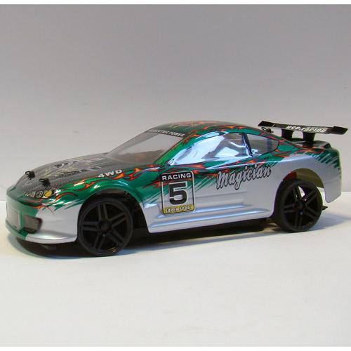 Профессиональная Машинка для Дрифта на радиоуправление HSP Magician Nissan Silvia (1:18, 30 км/ч, 23 см) - Фотография