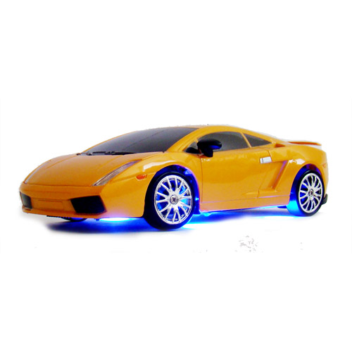 Оранжевая Радиоуправляемая машинка для дрифта Lamborghini (1:24, 19 см)
