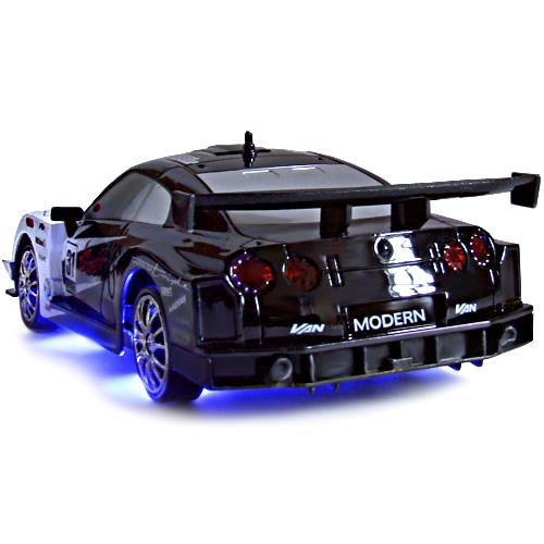 Радиоуправляемая машинка для дрифта Nissan GTR (1:24, 18 см, неоновая подсветка) - Фотография