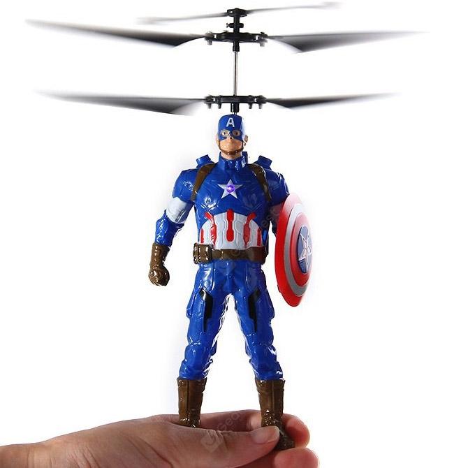 Летающий Капитан Америка (20 cм, управление от руки) - Фото