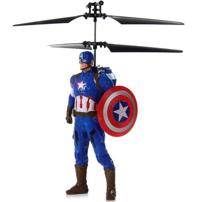 Летающий Капитан Америка (20 cм, управление от руки) - Картинка