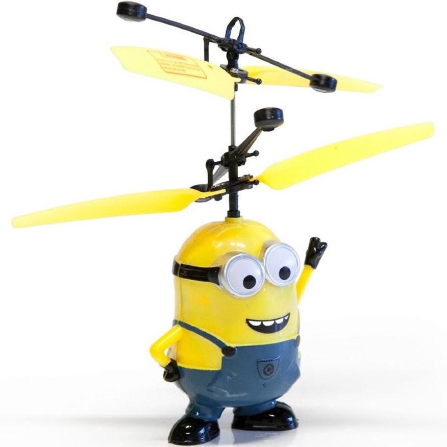 Летающий Миньон с пропеллером (15 cм, управление от руки)