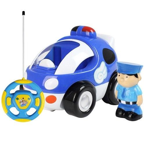 Синий Радиоуправляемая Машинка Мультяшная с фигуркой (14 см)