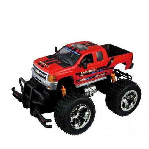 Красный Радиоуправляемый Джип 1:18 Chevrolet Silverado (30 см.)