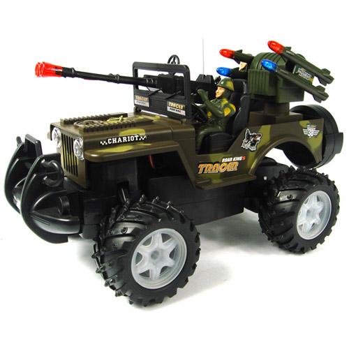 Джип 1:13 Военный с пушкой и солдатом - В интернет-магазине