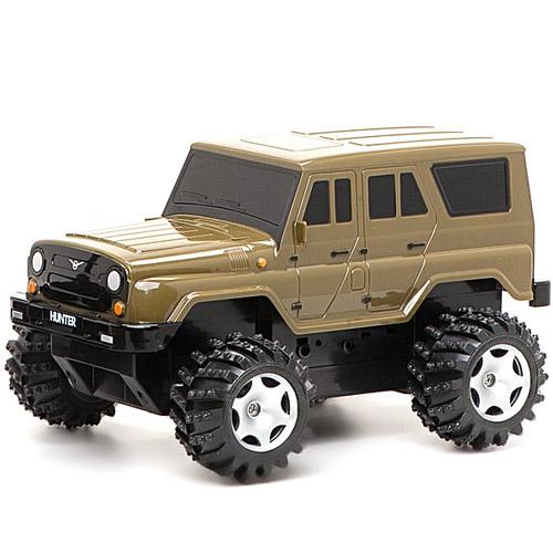 Зелено-коричневый Радиоуправляемый УАЗ Hunter (1:14, 30 см.)