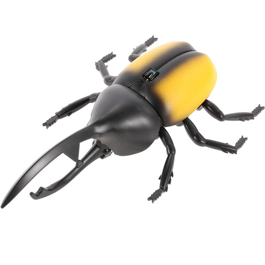 Желтый Радиоуправляемый Жук-Геркулес (13 см.)