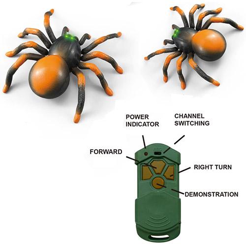 Игрушка Маленький Радиоуправляемый паук тарантул (15 см.) - Фото