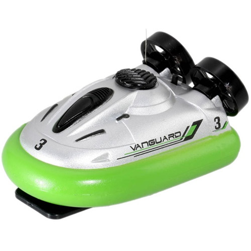 Зеленый Радиоуправляемый Мини-катер на воздушной подушке (10 см.)