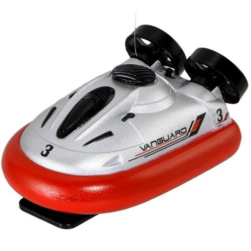 Красный Радиоуправляемый Мини-катер на воздушной подушке (10 см.)