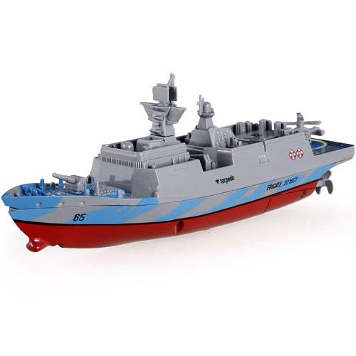 Синий Радиоуправляемый Мини военный корабль Фрегат (16 см., 2.4Ghz)
