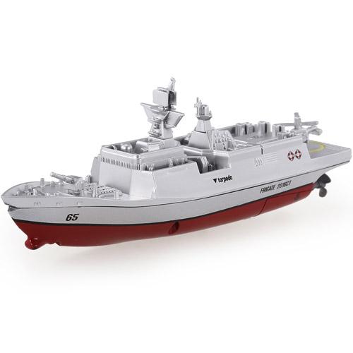 Красный Радиоуправляемый Мини военный корабль Фрегат (16 см., 2.4Ghz)
