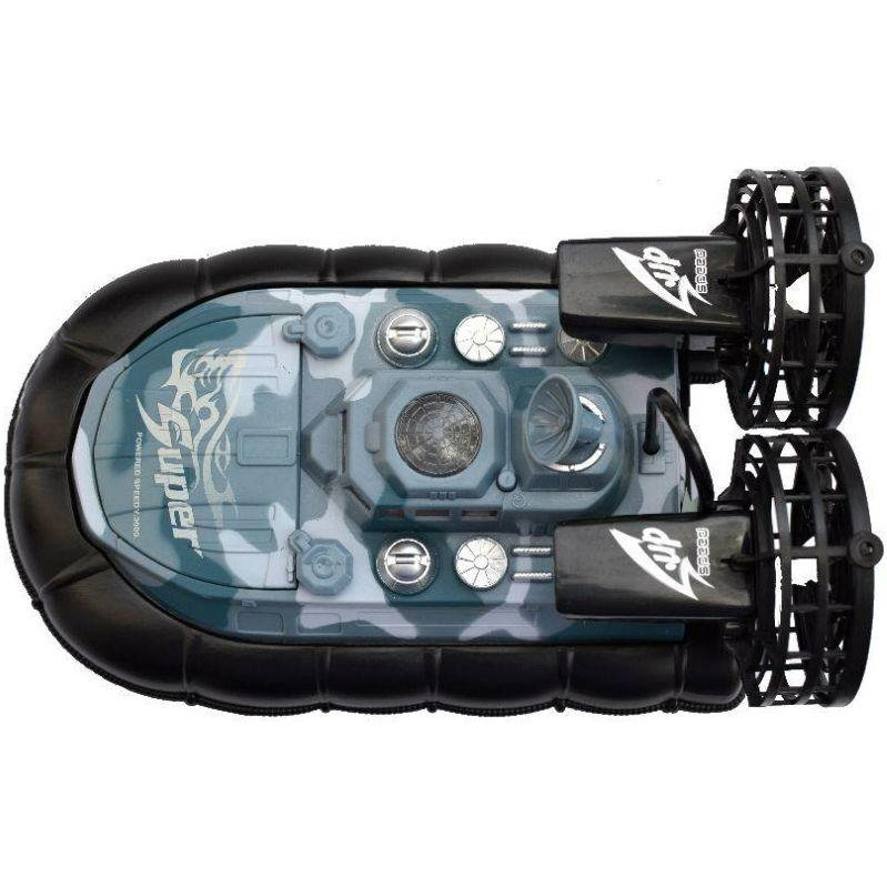 Радиоуправляемый военный катер на воздушной подушке (38 см.) - Картинка