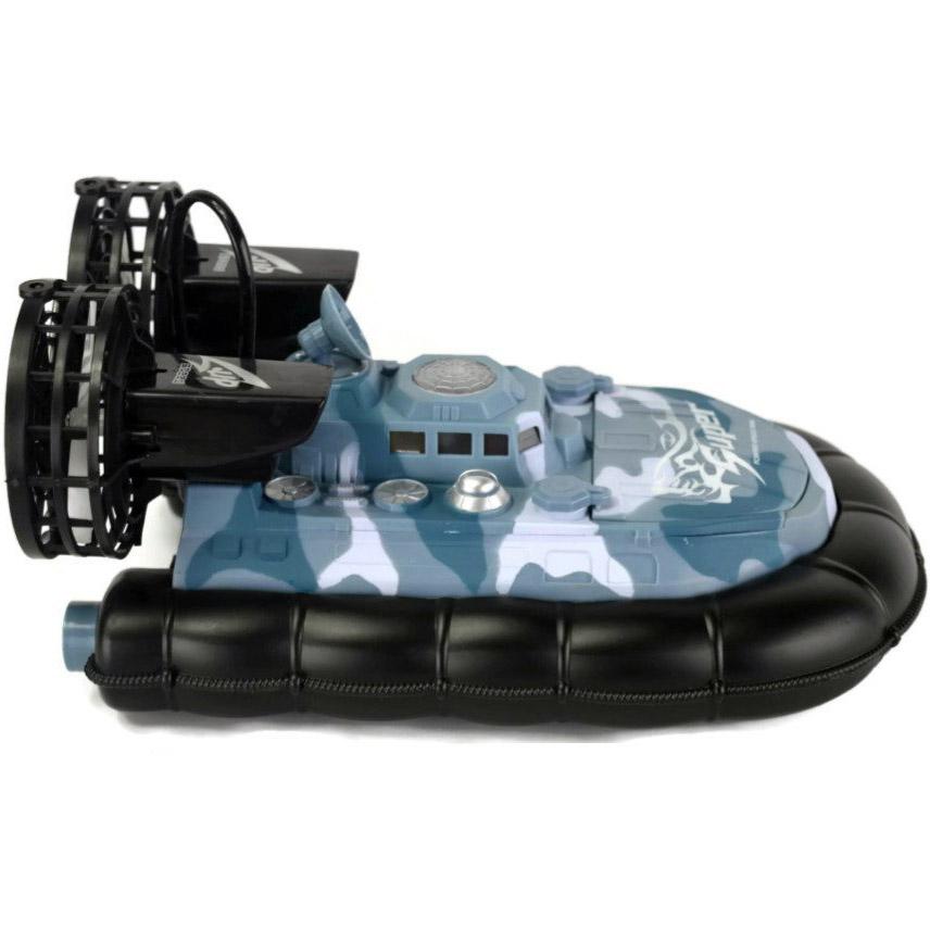 Синий камуфляж Радиоуправляемый военный катер на воздушной подушке War Boat (38 см.)