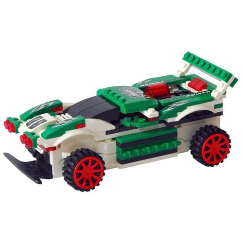 Радиоуправляемая машинка-конструктор зеленая