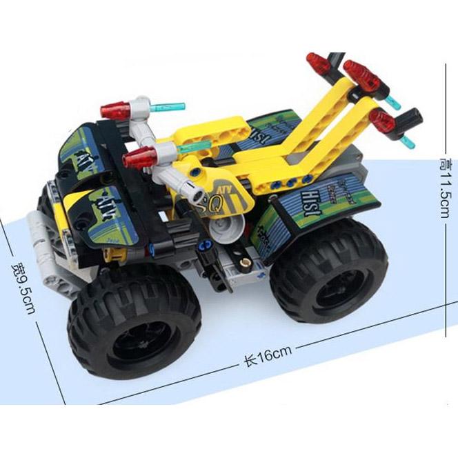 Инерционный Конструктор Квадроцикл ATV Quad (164 деталь, 16 см.) - Фото