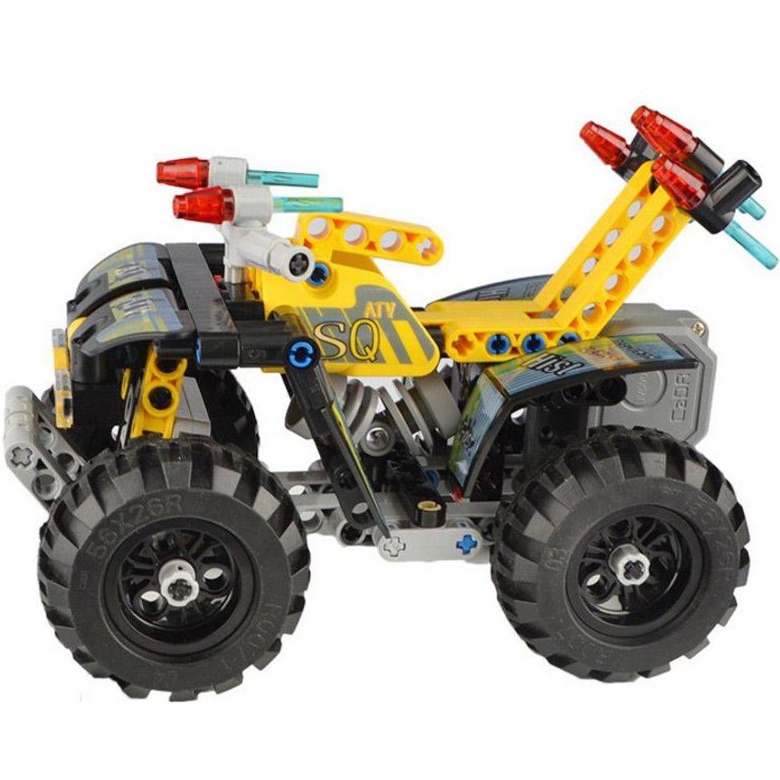 Инерционный Конструктор Квадроцикл ATV Quad (164 деталь, 16 см.) - Картинка