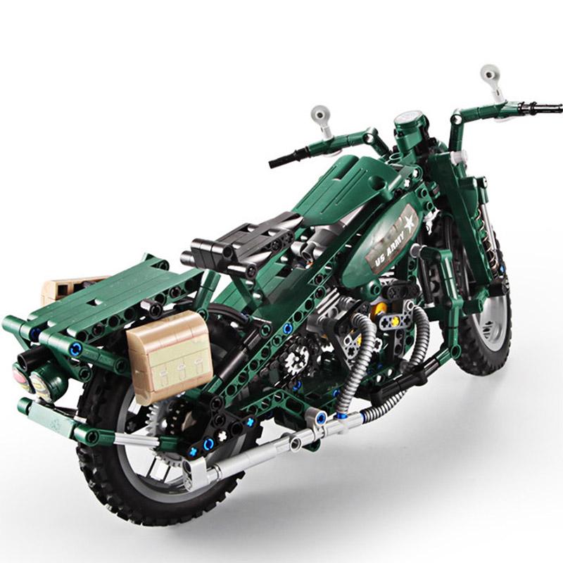 Конструктор Военный Мотоцикл U.S. Army (550 деталей, 34 см.) - Фотография