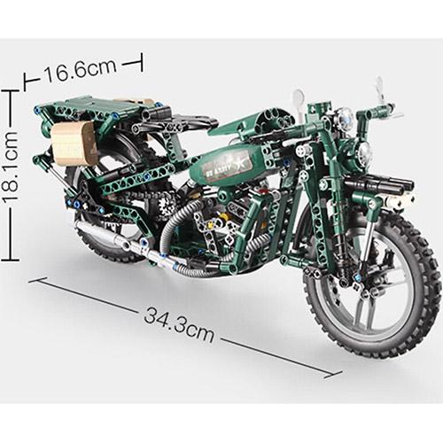 Конструктор Военный Мотоцикл U.S. Army (550 деталей, 34 см.) - В интернет-магазине
