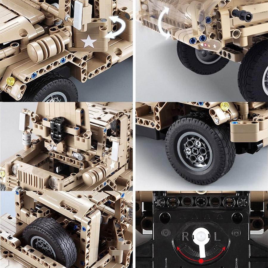 Радиоуправляемый Конструктор Военный грузовик (545 деталей, 38 см.) - Фотография