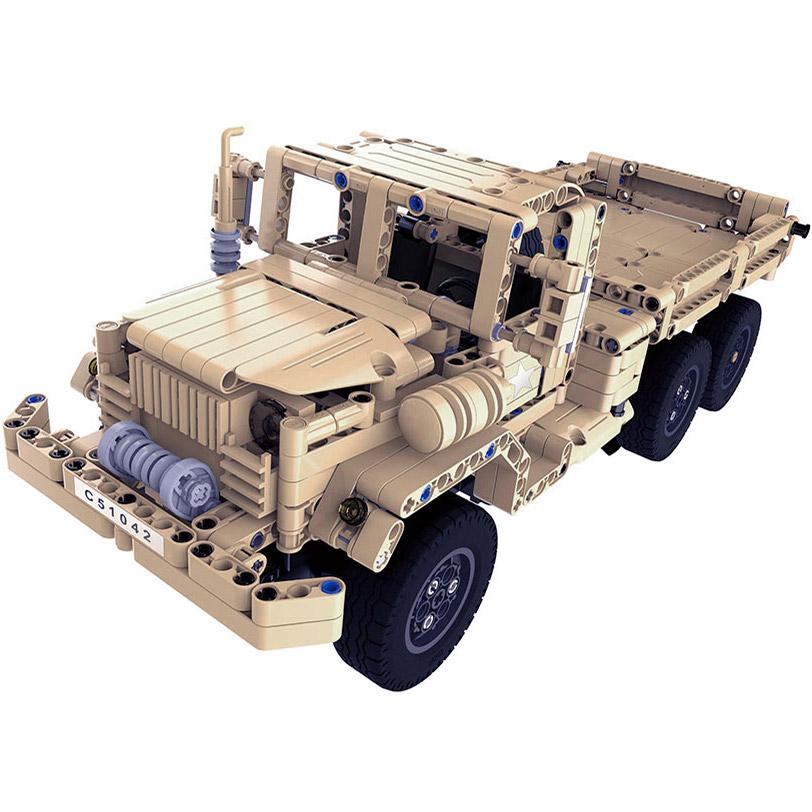 Радиоуправляемый Конструктор Военный грузовик (545 деталей, 38 см.) - Картинка