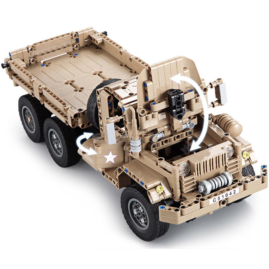 Радиоуправляемый Конструктор Военный грузовик (545 деталей, 38 см.) - Фото