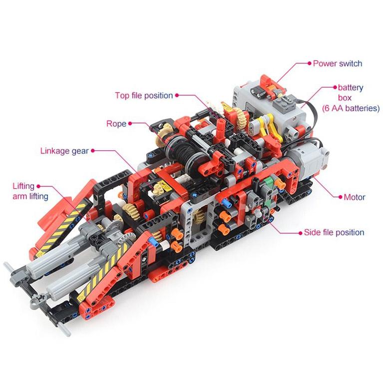 Радиоуправляемый Конструктор Автокран (4544 деталей, 100 см) - В интернет-магазине
