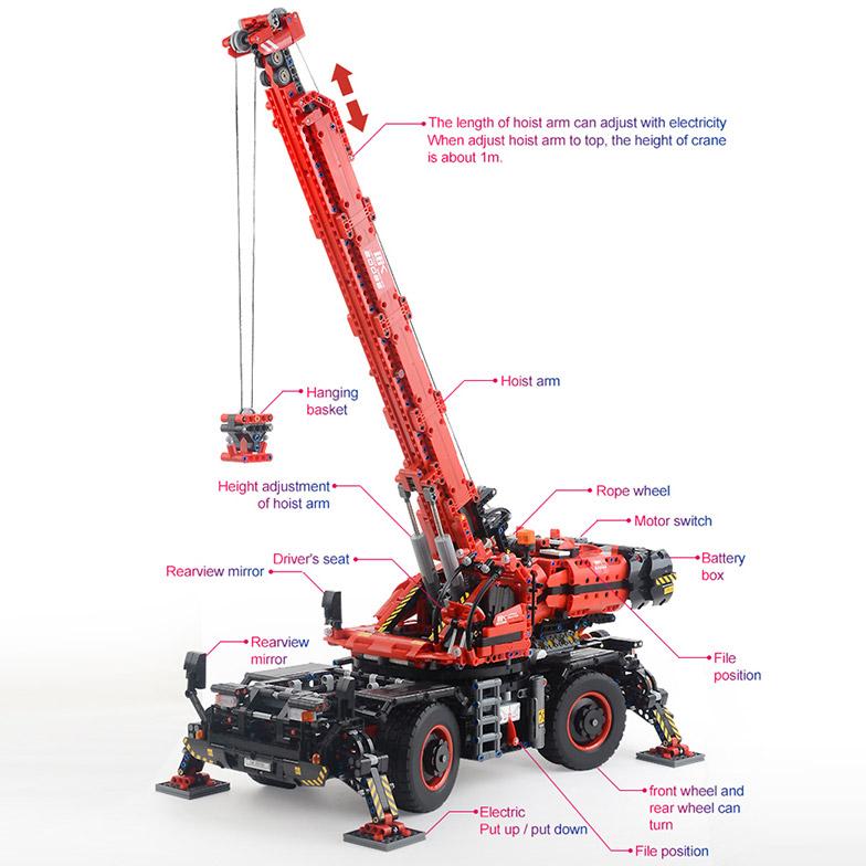 Радиоуправляемый Конструктор Автокран (4544 деталей, 100 см) - Фото