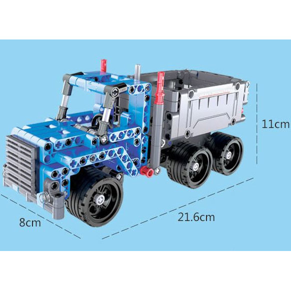 Инерционный Конструктор Грузовик Dump Truck (301 деталь, 21 см.) - Картинка