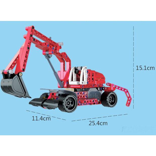 Инерционный Конструктор Экскаватор (235 деталь, 25 см.) - Фотография