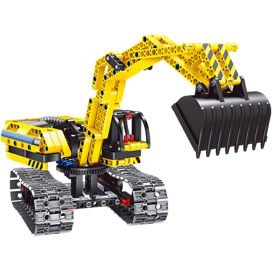 Конструктор 2 в 1 Экскаватор и робот (342 деталь, 28 см.)