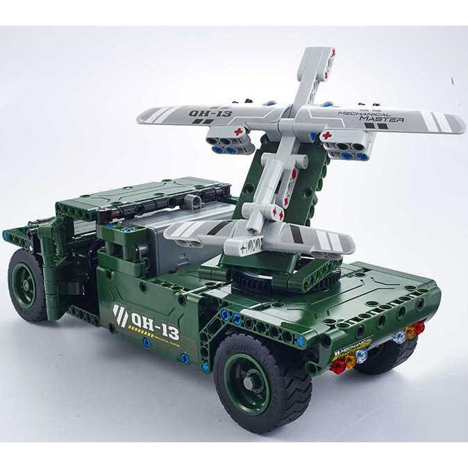 Радиоуправляемый Конструктор Humvee с беспилотником (502 деталей, 30 см.) - Картинка