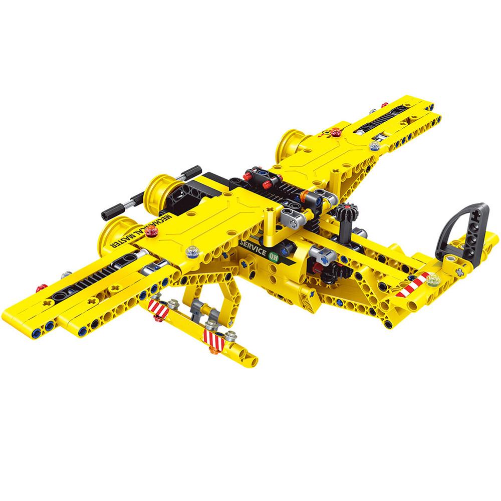 Конструктор 2 в 1 Карьерный самосвал и самолет (361 деталь, 22 см.)