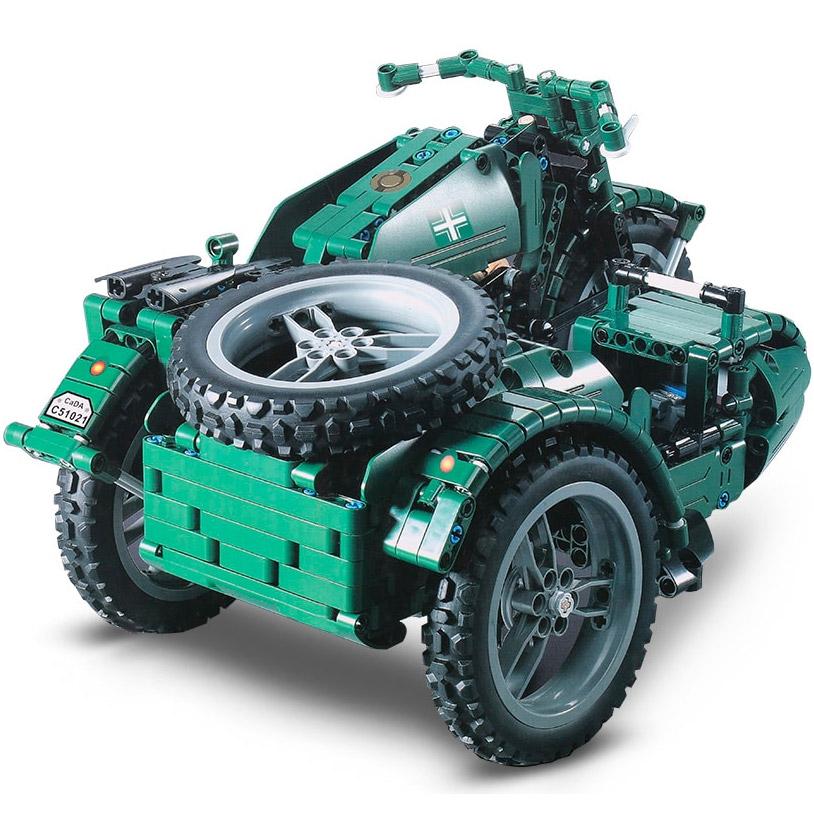 Радиоуправляемы Конструктор Мотоцикл с коляской (629 деталей 36 см.) - В интернет-магазине