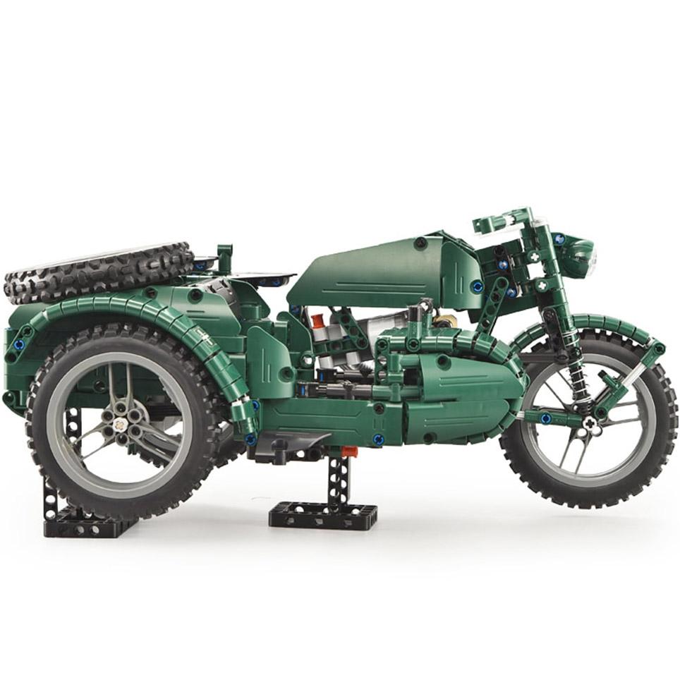 Радиоуправляемы Конструктор Мотоцикл с коляской (629 деталей 36 см.) - Фото
