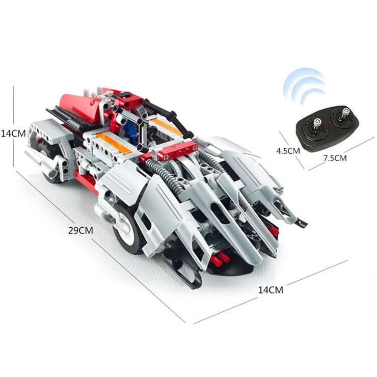 Радиоуправляемый Конструктор 2 в 1 Футуристический спорткар (326 деталей, 29 см.)
