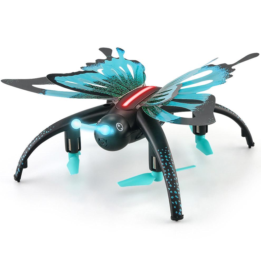 Радиоуправляемая Бабочка-квадрокоптер (с видеокамерой, 17 см)