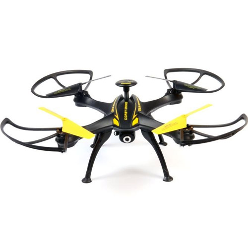Желтый Квадрокоптер RQ77-14 с видео (33 см, 2.4Ghz)