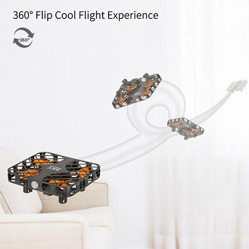 Квадратный мини-квадрокоптер в сетке (2.4Ghz, 8 см) - В интернет-магазине