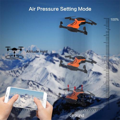 Складной квадрокоптер HC628W с трансляцией видео (19 см) - Фотография