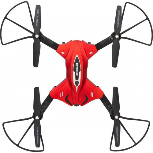 Красный Большой складной квадрокоптер Skytech TK110HW с трансляцией видео (36 см)