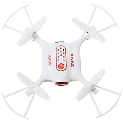 Белый Микро-квадрокоптер Syma X21W с трансляцией видео (720p, 13 см, 2.4GHz)