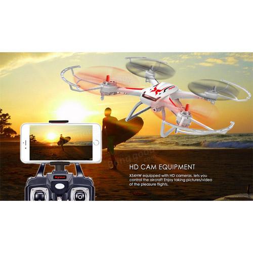 Квадрокоптер Syma X54HW с трансляцией видео (37 см, 2.4Ghz) - Фотография