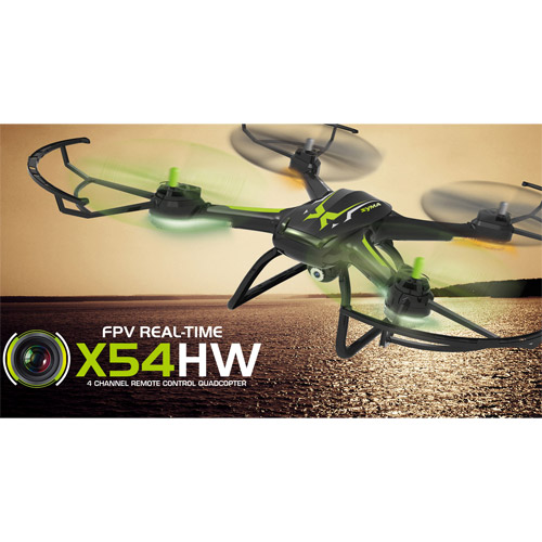 Квадрокоптер Syma X54HW с трансляцией видео (37 см, 2.4Ghz) - Изображение