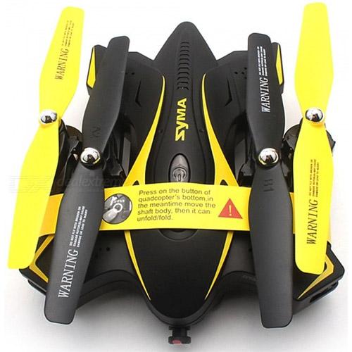 Желтый Складной Квадрокоптер Syma X56W-P (FPV, 26 см, 2.4Ghz)