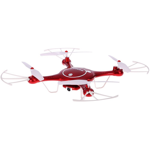 Красный Радиоуправляемый Квадрокоптер Syma X5UW с трансляцией видео на смартфон (HD 720p, 32 см, 2.4Ghz)