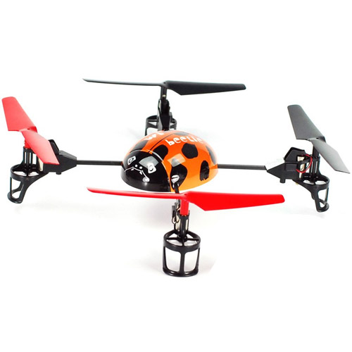 Оранжевый Квадрокоптер Beetle Божья коровка (19 см, 2.4GHz)