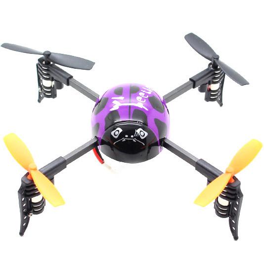 Фиолетовый Квадрокоптер Beetle Божья коровка (19 см, 2.4GHz)