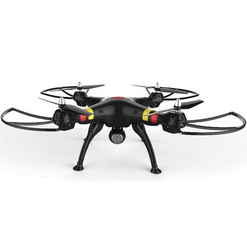 Черный Радиоуправляемый Квадрокоптер Syma X8W с трансляцией видео в реальном времени